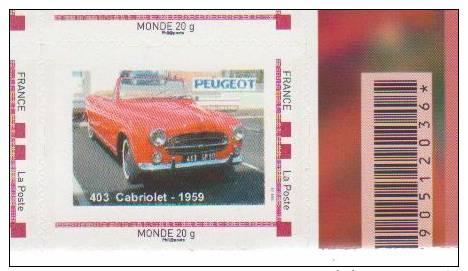 Doubs  -  Sochaux   - Peugeot  403 Cabriolet 1959 - Francia