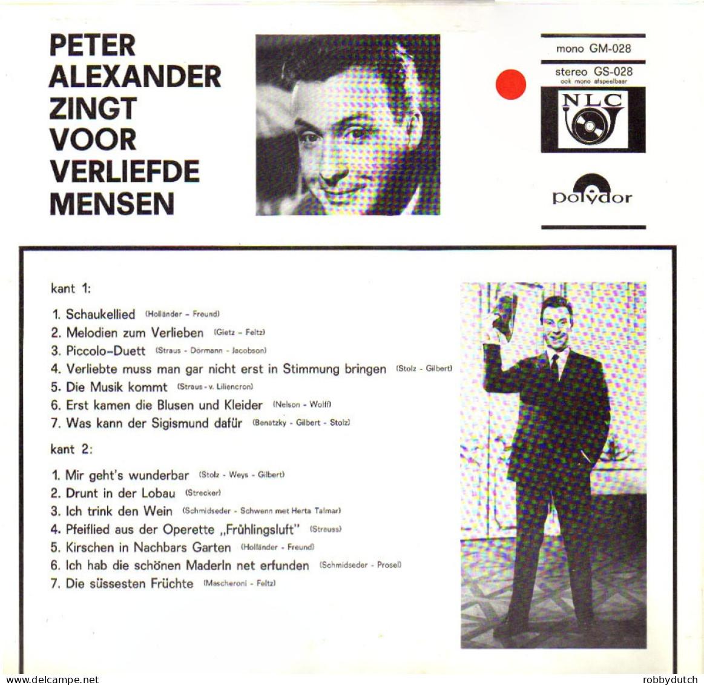 * LP *  PETER ALEXANDER ZINGT VOOR VERLIEFDE MENSEN (Holland 1966 Ex!!!) Selten!!! - Sonstige - Deutsche Musik