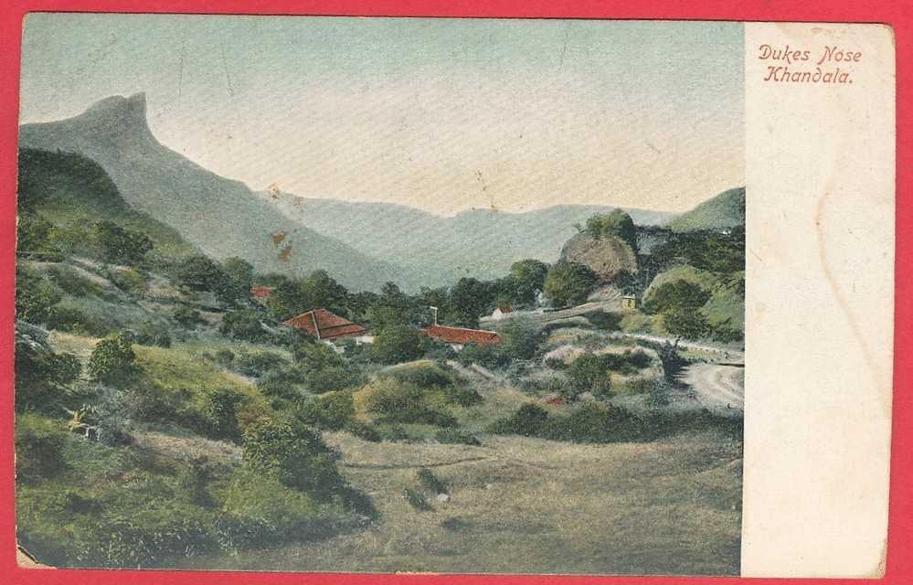 India KHANDALA  Circa Early 1900's  Dukes Nose Mountaines Uncirculated Vintage Postcard - India