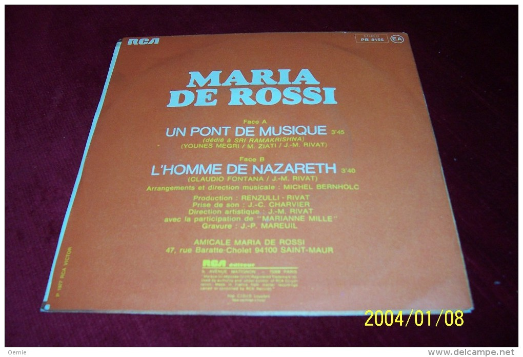MARIA  DE ROSSI  °  COLLECTION   DE  12 / 45  TOURS - Vollständige Sammlungen