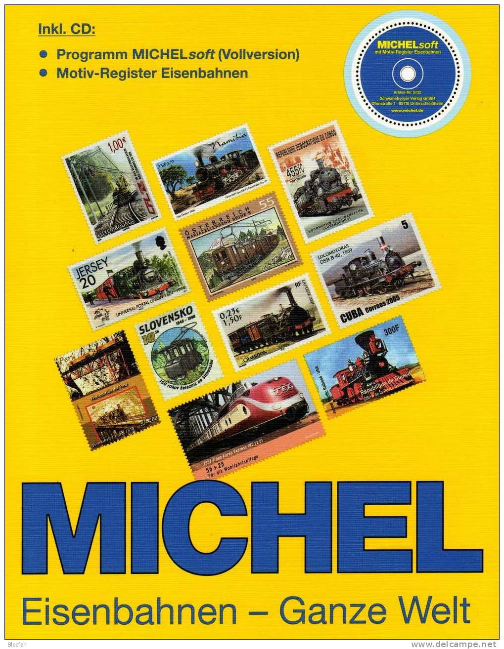 Stamps Eisenbahnen Ganze Welt Michel Motiv-Katalog 2007 Neu 98€ Namensregister Lokomotiven Topics Of Train Locomotiven - Verkehr & Transport