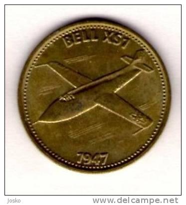 BELL XS1 1947.  - Shell *  Token Jeton Spielmarke Vale Ficha Gettone Fiche Tokens Jetons Plane Avion Aviation History - Unclassified
