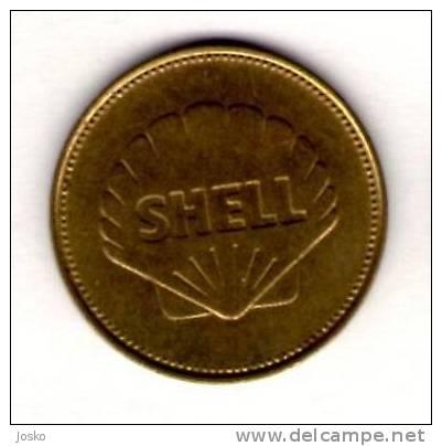 BELL XS1 1947.  - Shell *  Token Jeton Spielmarke Vale Ficha Gettone Fiche Tokens Jetons Plane Avion Aviation History - Tokens & Medals