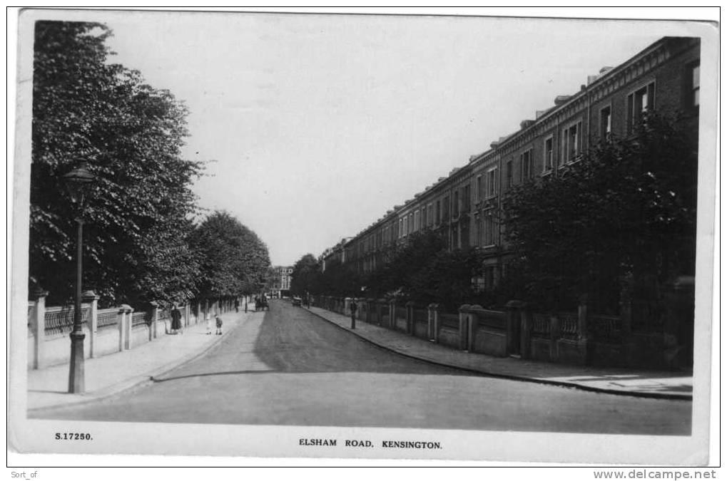 (REAL PHOTO) KENSINGTON  - ELSHAM ROAD -  A746 - London Suburbs