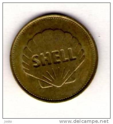 ICARUS & DAEDALUS  - Shell *  Token Jeton Vale Ficha Gettone Fiche Tokens Jetons Plane Avion Aviation History - Tokens & Medals