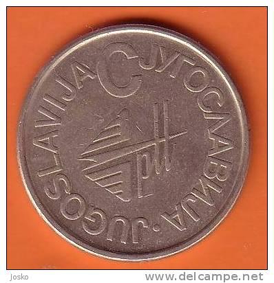 "Telephone Jeton SERIE  "" C ""  ( Yugoslavia ) * Token Ficha Spielmarke Gettone Telephones Phone Phones Telefono - Tokens & Medals"