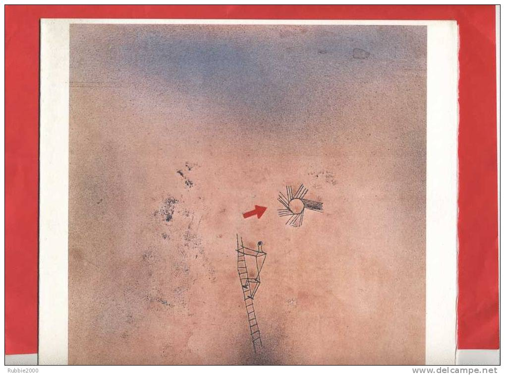 GRAVURE OFFSET PAUL KLEE MONTEE AUFSTIEG 1925 SUR VELIN EDITEURS NOUVELLES IMAGES A LOMBREUIL POEME D ARTHUR RIMBAUD - Estampes & Gravures