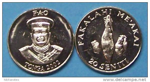 "TONGA, 2002 20 SENITI ""WORLD FOOD DAY"", UNC - Tonga"