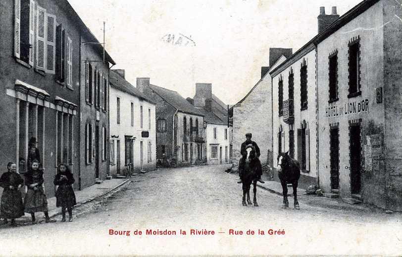 44 MOISDON LA RIVIERE RUE DE LA GREE ET HOTEL DU LION D'OR - Moisdon La Riviere