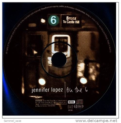 Musik CD  Album  -  On The 6  -  Jennifer Lopez   ,  Neuwertig - Disco, Pop