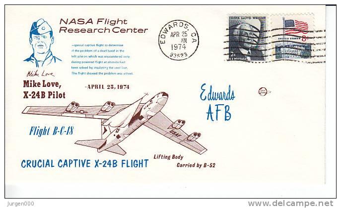 Crucial Captive X-24B Flight, 1974 (3343) - Lettres & Documents