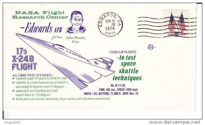 17th X-24B Free Flight, 1974 (3037) - Lettres & Documents