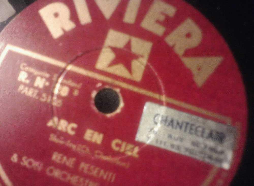 DISQUE GRAMOPHONE 78 TOURS /  B 718 _ RENE PESENTI _ LA VALSE BLEUE _ ARC EN CIEL - 78 Rpm - Schellackplatten