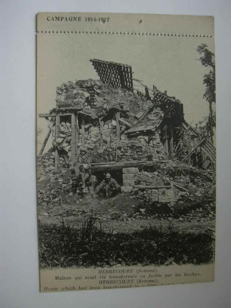 HERBECOURT - Oorlog 1914-18
