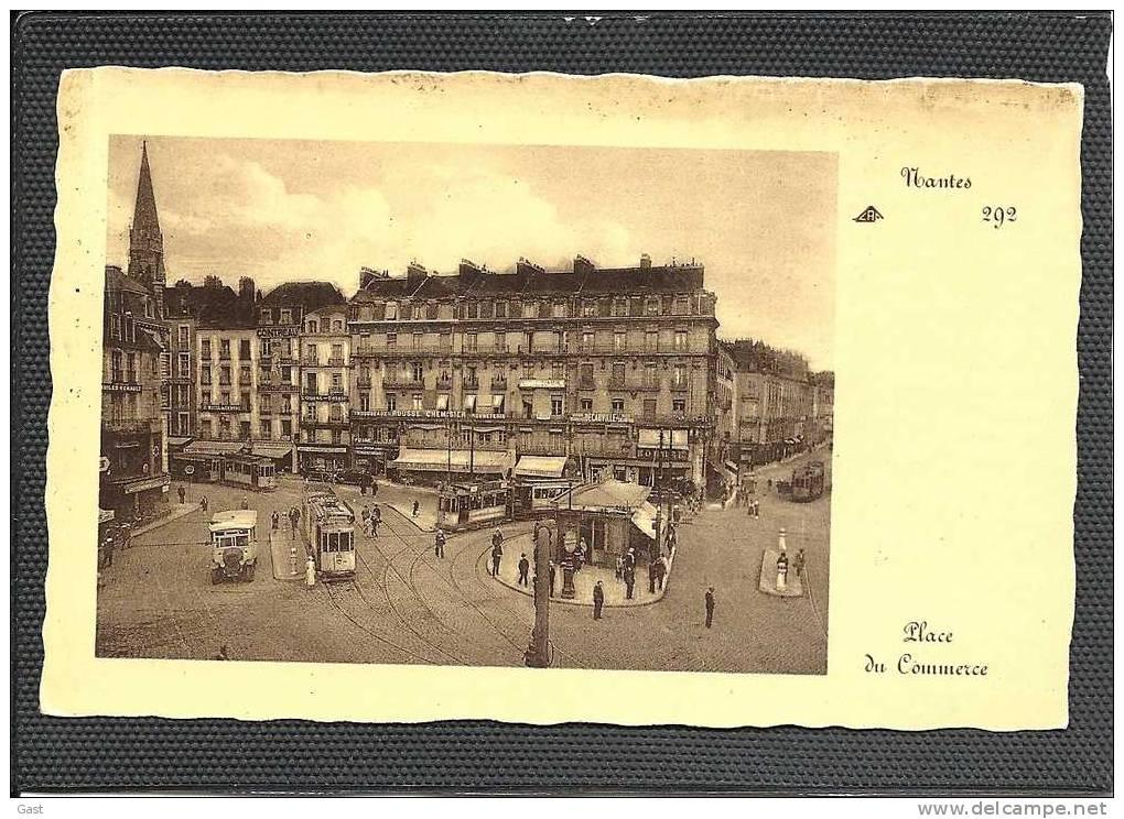 44  NANTES    PLACE  DU  COMMERCE   (Tramway  Autobus ) - Nantes