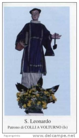 Colli A Volturno, Isernia - Santino SAN LEONARDO - PERFETTO - Religione & Esoterismo
