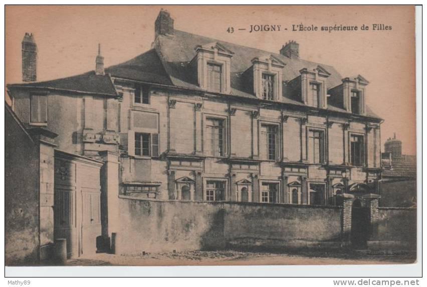 CPA  89 YONNE - JOIGNY L'école Supérieure De Filles Carte N° 43 - Joigny