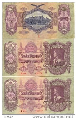 3 Bank Biljetten  1930 (gr.ds) - Hongrie