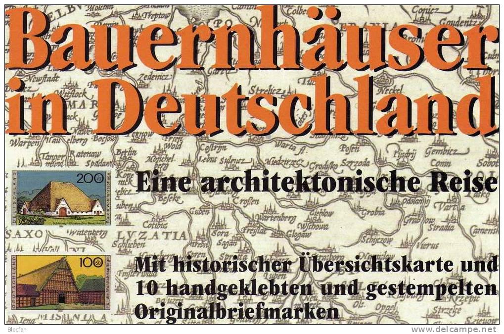 Geschenk-Buch Edition Deutschland Mit 2 Sets O 24€ Bauernhäuser Eifel Sachsen Thüringen Bayern Holstein Book Of Germany - Theater, Kostüme & Verkleidung