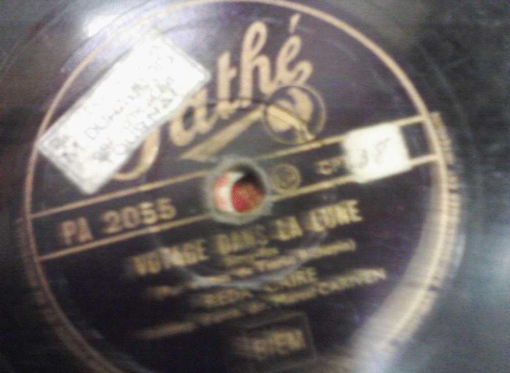 DISQUE GRAMOPHONE 78 TOURS /  Z 798 _ REDA CAIRE _ VOYAGE DANS LA LUNE _ SI TU REVIENS - 78 Rpm - Schellackplatten