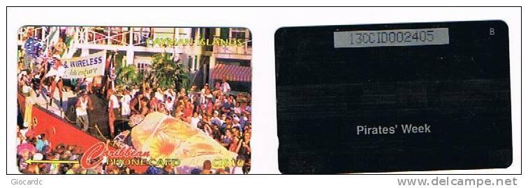 CAYMAN ISLANDS - GPT - 1995 LA SETTIMANA DEI PIRATI (PIRATES' WEEK)    CODE 13CCID  - (USED)  -  RIF. 1029 - Isole Caiman