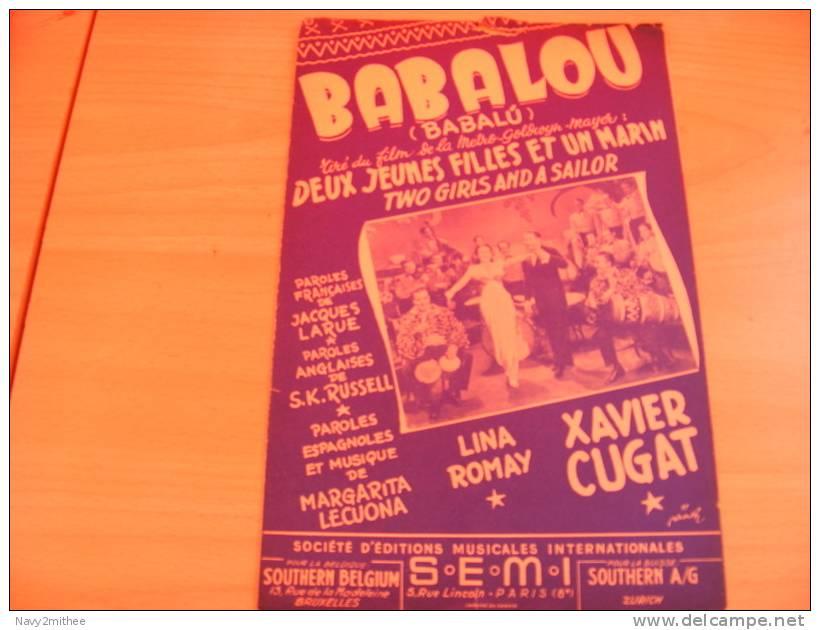 BABALOU** TIRE DU FILM  DEUX JEUNES FILLES ET UN MARIN** - Musique & Instruments