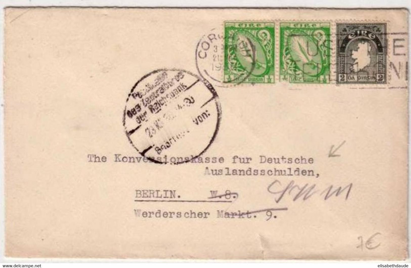 IRLANDE - 1956 - LETTRE De CORK Pour BERLIN (ALLEMAGNE) - - 1949-... Republic Of Ireland