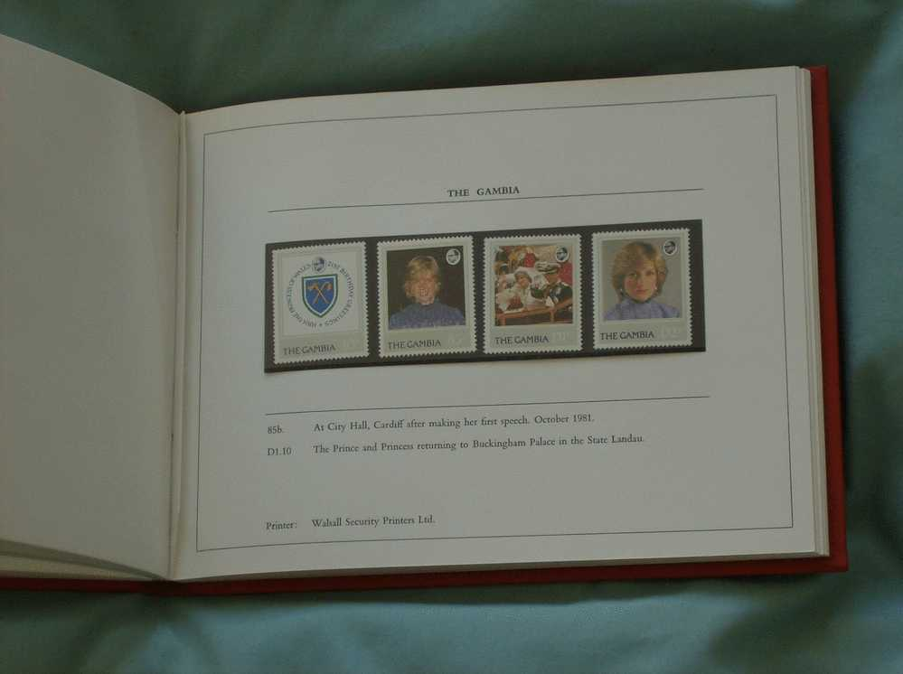 1982 Crown Agents HRH Princess Of Wales Book 17 Countries Mint Stamp Sets. Limited Ed. 63/100 - Fiestas
