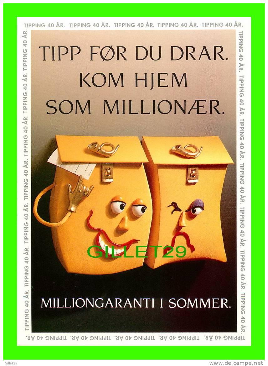 POST OFFICE - TIPP FOR DU DRAR KOM HJEM SOM MILLIONAER - - Poste & Facteurs
