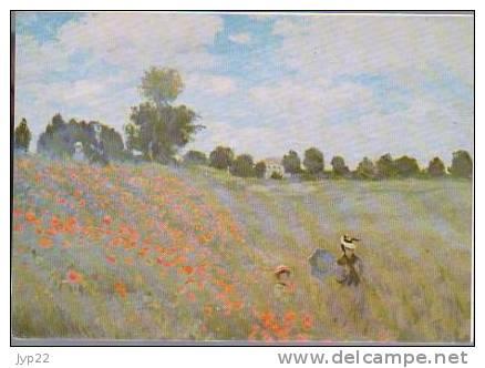 Jolie CP Double Arts Tableau Peinture Peintre Claude Monet Les Coquelicots - éditée Par La Secours Populaire - Pintura & Cuadros