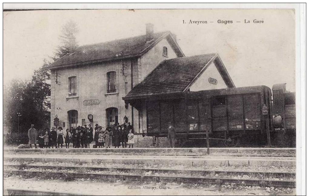 GAGES  -  LA GARE - WAGON - France
