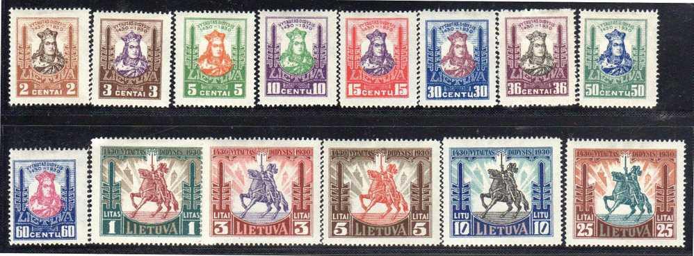 LITUANIE - N° 289/302 * (1930) - Lituania