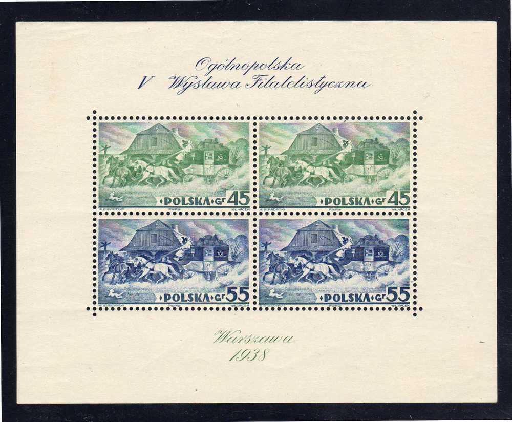 POLOGNE - Bloc N° 5 **  (1938) - Blocchi E Foglietti