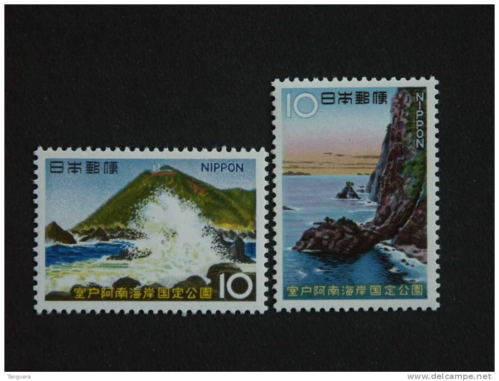 Japan Japon Nippon 1966 Parc National Nationaal Park De Muroto-Anan Cap Et Falaise Yv 832-833 MNH ** - 1926-89 Emperor Hirohito (Showa Era)