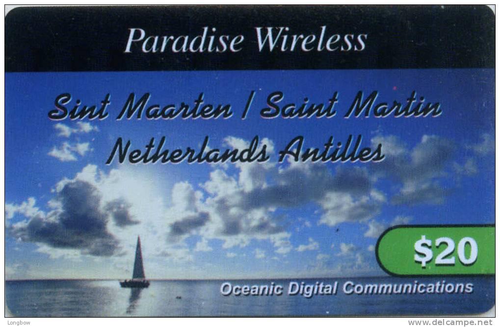 ST.MAARTEN-OCEANIC DIGITAL COMMUNICATIONS $20 - Tarjetas Telefónicas