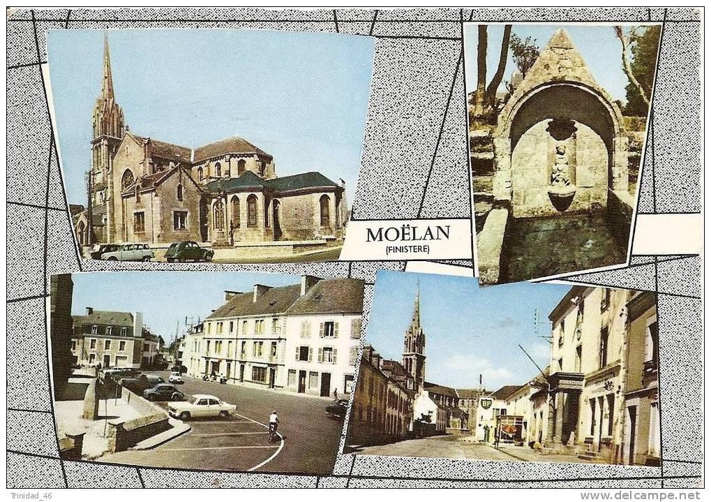 MOELLAN SUR MER 29   ( Multivue Colorisee Et Dentellee ) - Moëlan-sur-Mer
