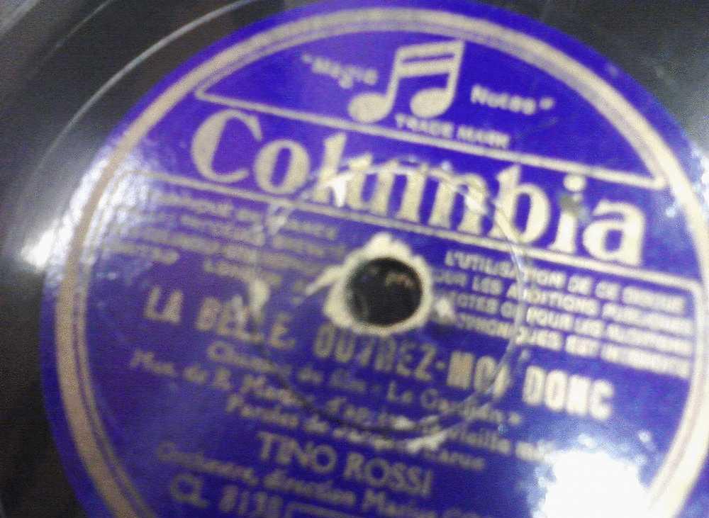 DISQUE GRAMOPHONE 78 TOURS /  H_JA  366_ TINO ROSSI _ J AI DEUX CHANSONS _ LA BELLE OUVREZ MOI DONC - 78 Rpm - Schellackplatten