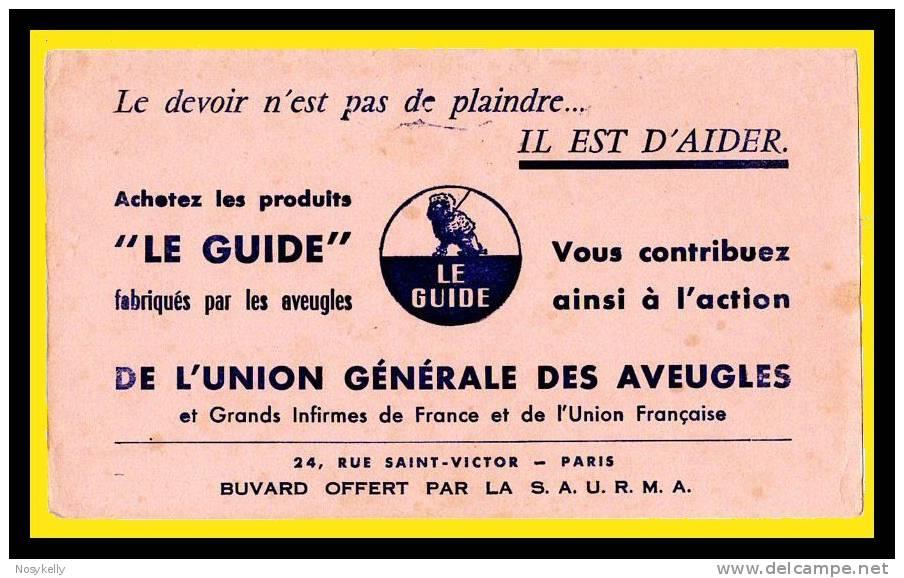 BUVARD  ..     Union Générale Des Aveugles  -  Paris - Buvards, Protège-cahiers Illustrés