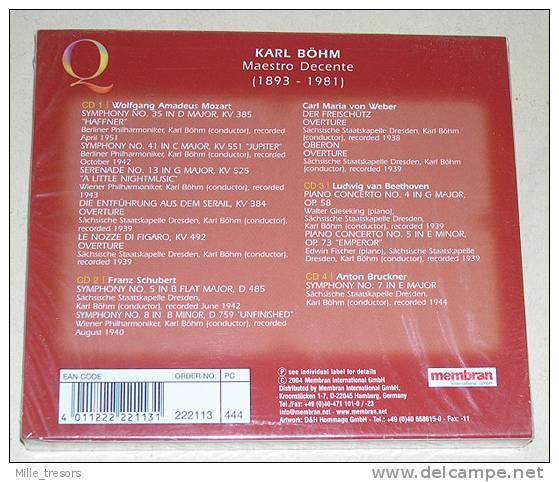 Coffret 4 CD : Karl BOHM - Klassik