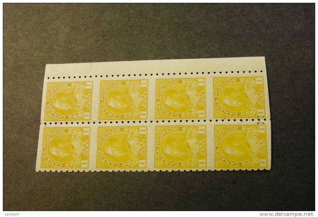 Canada 126c Admiral Block Of Eight MNH 1923 A04s - Blocks & Sheetlets