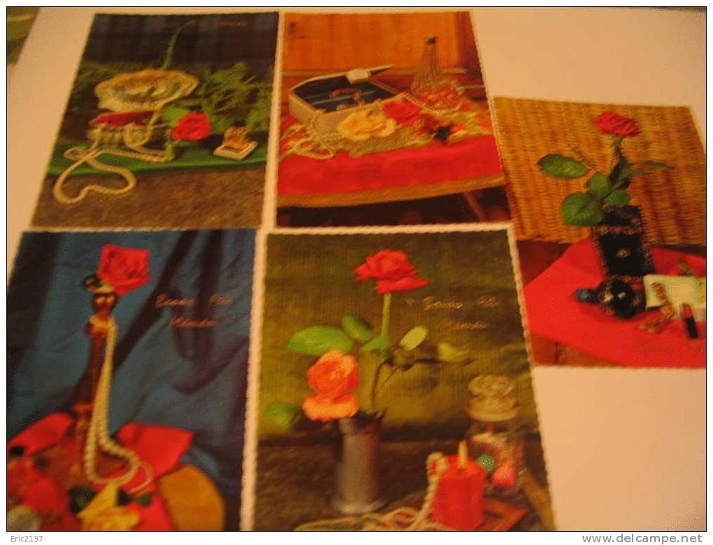 LOT DE 5 CARTES (neuves) BONNE FETE  MAMAN - Mother's Day