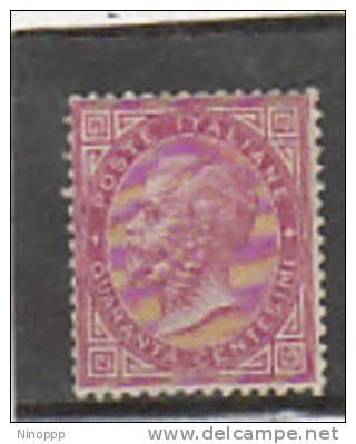 Italy-1863 King Victor Emmanuel 40c Carmine MH - Mint/hinged