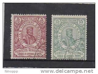Italy-1910 50th Anniversary Of The Plebiscite Used - 1900-44 Vittorio Emanuele III