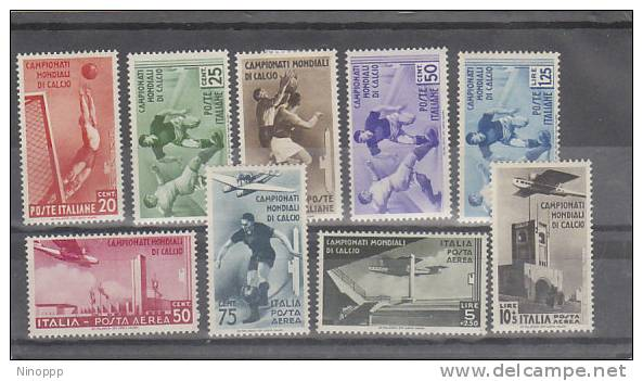 Italy-1934  2nd World Soccer Championship MH - 1900-44 Vittorio Emanuele III
