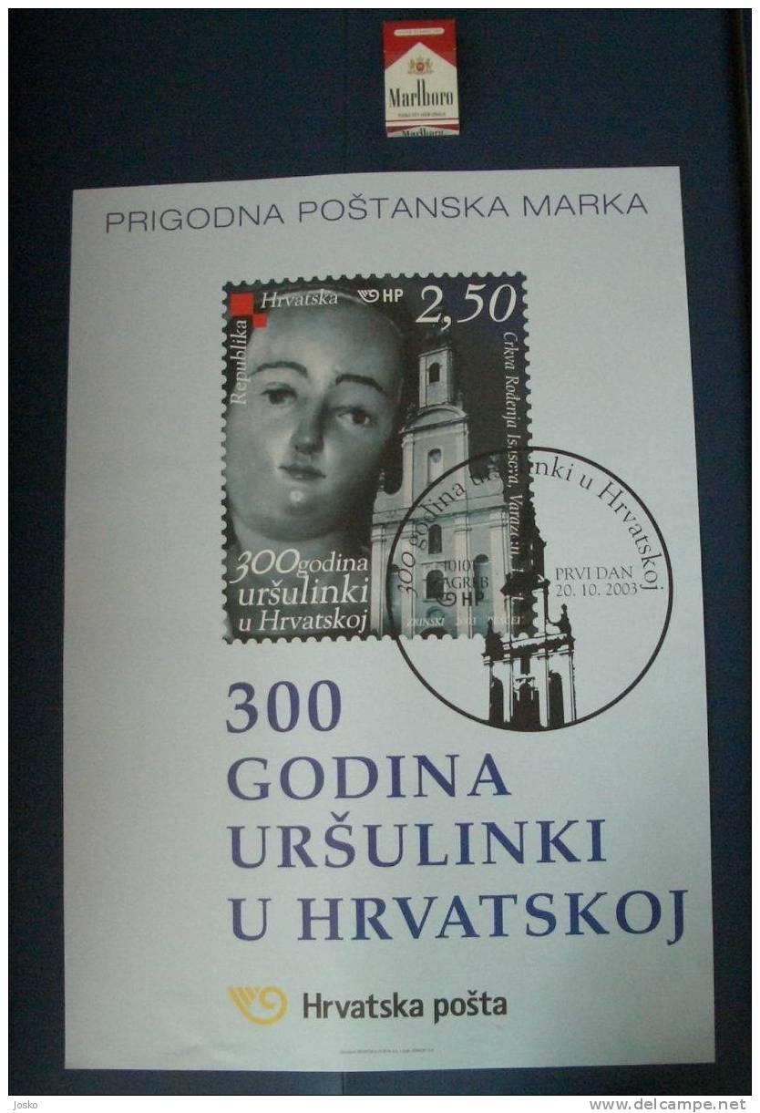 300 YEARS OF URSULINES IN CROATIA (Croatia Poster ) 300 ANS DE URSULINES Nun Nuns Religieuse Religieuses Religion AFFICE - Religion & Esotericism