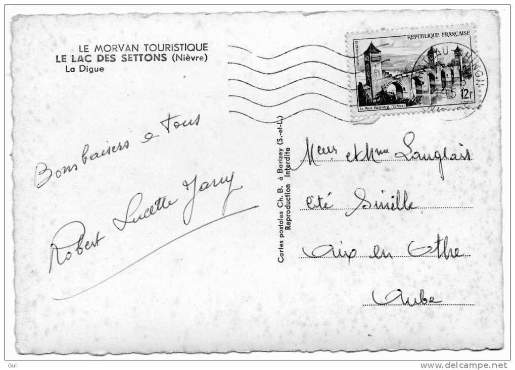 [58] Nièvre >  Montsauche Les Settons- Le LAC Des SETTONS - La Digue -MORVAN Touristique ( Planchez 9 ) * PRIX FIXE - Montsauche Les Settons