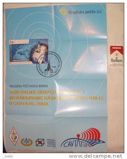 GENERAL CONFERENCE OF INTERNATIONAL AMATEUR RADIO UNION REGION 1 IN CAVTAT 2008. ( Croatia Poster ) Affiche - Radio & TSF