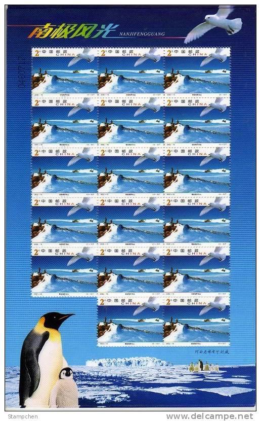 China 2002-15 Antarctic Landscape Stamps Sheets Penguin Bird Mount Weather Aurora Iceberg - Antarctic Wildlife