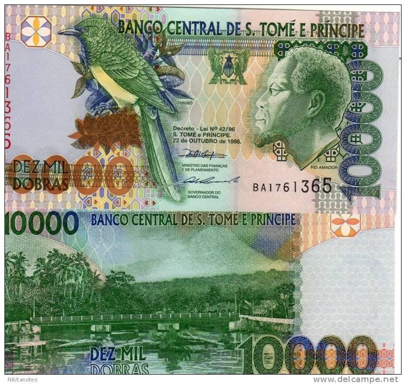ST. SAINT THOMAS & PRINCE 10000 DOBRAS 1996 UNC P 66 - Sao Tomé Et Principe