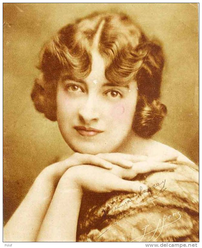 Chromo Gd Format - Actrice De Cinema : Denise Legeay - Signature Autographe ?  (VP 219) - Other Collections